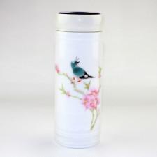 Teedose Keramik Vogel mit Drehverschluss