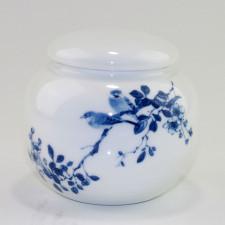 """Porzellan-Teedose """"Feldlerchen auf Blütenzweig"""""""