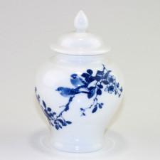"""Chinesische Porzellan-Teedose """"Feldlerchen"""""""