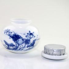 Porzellan-Teedose mit Aromaverschluß