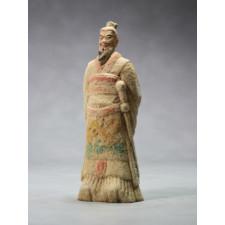 """Terrakotta-Krieger aus Xi'an """"Kaiser Qin"""" (22cm Serie), hell"""