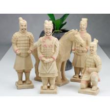 Terrakotta-Armee Krieger Set hell 22 cm