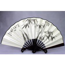 """Chinesischer Wandfächer """"Der Bambus"""", Klappfächer"""