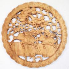 """Wandornament Holz """"Qilin"""""""
