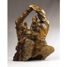 "Wurzelholz-Skulptur ""Jiang Taigong"""