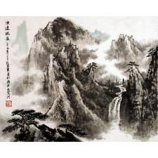 "Peng Guo Lan ""Landschaft von Yandangshan"", chinesische Malerei"