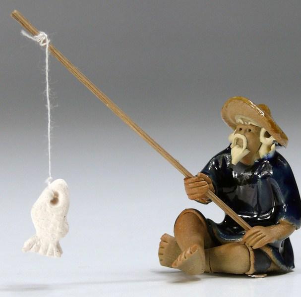 Bonsai Figur Fischer