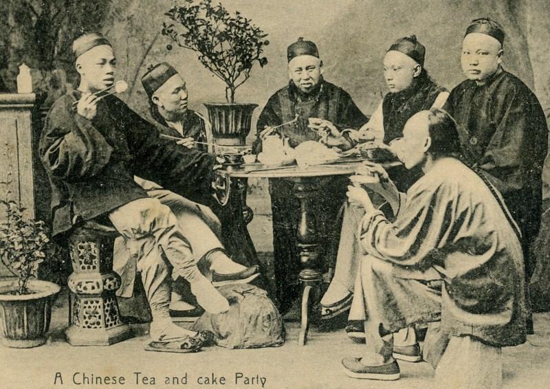 chinesische Teeparty