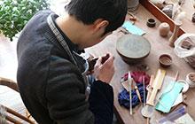 Herstellung der Teekannen in Handarbeit